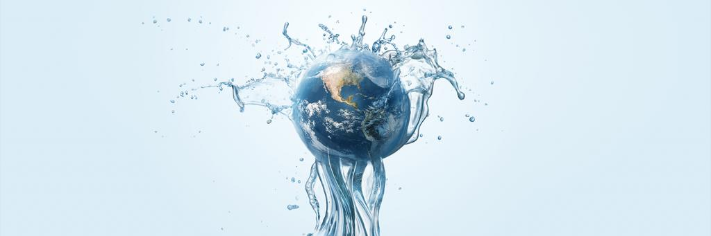 The world in a water jet