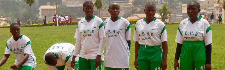 Young women football team in Cameroon