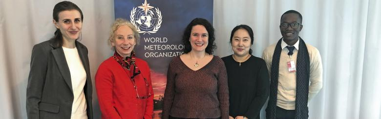 Capstone participants take photo at world meteorological organization