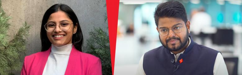 Samhita and Karun were the winners of the 2019 Davis Projects for Peace Award