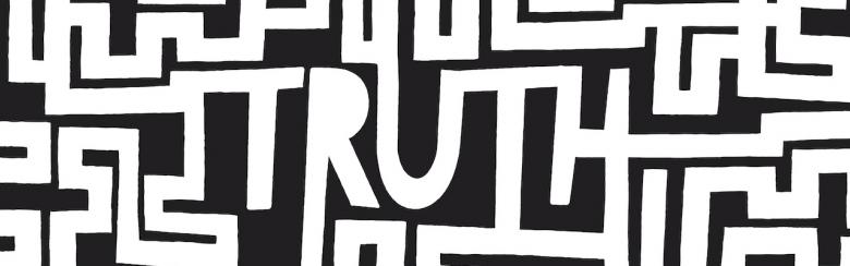 "Maze with the word ""TRUTH"" at its centre"
