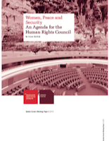 "Cover of ""Women, Peace and Security. An Agenda for the Human Rights Council"""